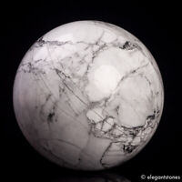 430g 65mm Large Natural Howlite Stone Quartz Crystal Sphere Healing Ball Chakra