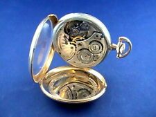 Solid Gold,Was Serviced,Working Good Hamilton Pocket Watch Winding,14K