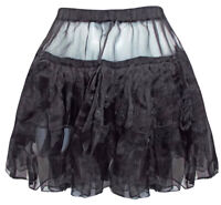 Altnoir Black Organza Luxury Netted Tutu Petticoat Sissy Skirt  One size (220303