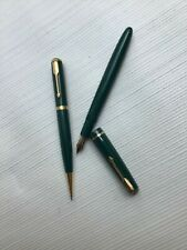 Vintage PARKER VICTORY (Duofold ?) Fountain Pen & Propelling Pencil Set - Green