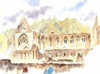John A. Case - 20th Century Watercolour, The Abbey Grounds