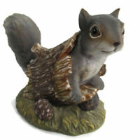 Vintage Home Interiors HOMCO Masterpiece Porcelain SQUIRREL Figurine 1986 w/base