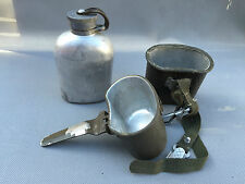 Ancienne gourde en alu gamelle militaire militaria  french antique