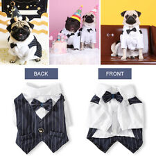 Dog/Cat Bowtie Shirts Pets Wedding Formal Suit Clothes Party Costume