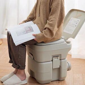 Pratique 20L Camping WC Chimique Toilette Portable Toilette Seau Voyage Caravane