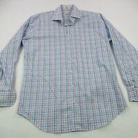 Peter Millar Button Front Shirt Long Sleeve Checks Business Casual Large