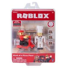 ROBLOX Work At a Pizza Place Box Action Figure Delivery Driver Chef Scooter Job