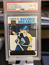 1980 Topps Wayne Gretzky Record Breaker PSA 8 Edmonton Oilers HOF