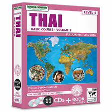 FSI: Basic Thai 1 (11 CDs/Book) by Foreign Service Institute *NEW IN BOX*