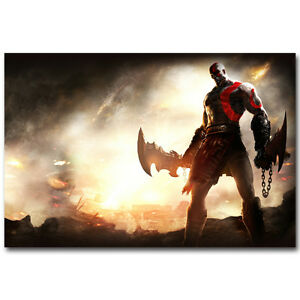 God Of War 4  New Game Silk Poster Prints 13x20 24x36 inch Kratos