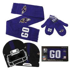 New Baltiore Ravens knit Cap, Scarf & Mitten Set - Youth sz. boys 8-20    $50