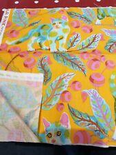 Tula Pink fq Tabby Road Disco Kitty Marmalade orange remnant 25x110cm vhtf oop