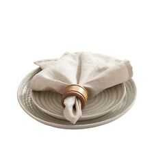 Dapu Pure Linen Napkins 12 Packs 100%French Flax Soft for Dinner 18x18 Inch