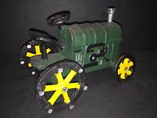 Reproduction of Vintage Cast Iron Green Farm Tractor TOY