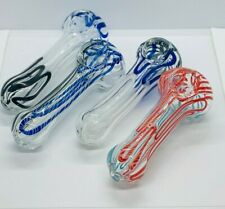 4 to 5 Inch Assorted Tobacco Smoking Pipe Herb Bowl Glass Pipes - Made In Usa