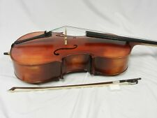 New Solid Wood Cello 1/4 Size, Good Set-up +Prelude Strings + Bow + Bag + Rosin