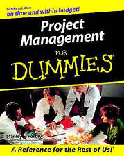 Project Management For Dummies by Stanley E. Portny (Paperback, 2000)