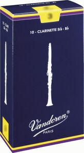 Anche clarinette Sib Vandoren traditionnelles toutes forces - boite de 10 anches