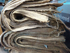 burlap jute hessian coffee bean sacks lot of 50 bags with free UK shipping