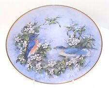"Franklin Mint Fine Porcelain Collectible Plate ""Duet in Bloom"" by T Politowicz"