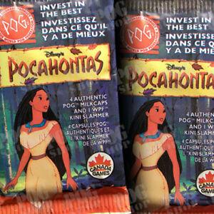 POGS 1995 Sealed Pack CANADA GAMES POCAHONTAS - Ultra Rare - POG SHOP