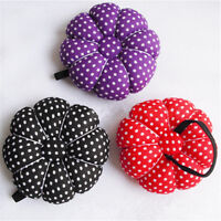 1X Pumpkin Shaped Sewing Needle Pin Cushion Pillow Pincushion Holder Wrist Craft