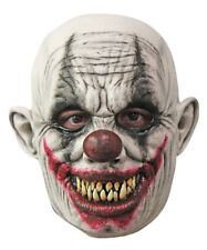 CREEPY GRINNING CLOWN SCARY LATEX HALLOWEEN HORROR HEAD MASK