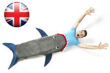 Fleece Shark Mermaid Tail Blanket Soft Snuggle-in Sleeping Bag Costumes UK Stock