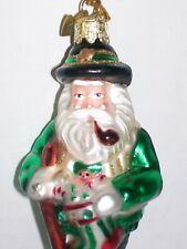 Noble Gems SANTA w/ Irish Stocking Glass Christmas Ornament, by Kurt Adler