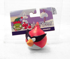 SUPER RED BIRD Masked Angry Birds Christmas Ornament NWT