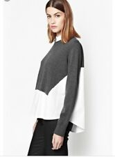 FRENCH CONNECTION Fresh Knits Jumper Shirt BLACK & WHITE Knitted Size Large