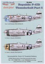 Lifelike 1/72 decal Republic P-47 Thunderbolt Pt 5 for Tamiya - 72-016
