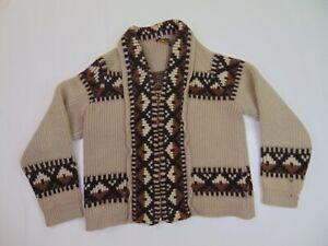 VTG Pendleton Cardigan Sweater Size Small Big Lebowski Wool Westerly 70s *flaw*
