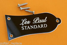 Truss Rod Cover Gibson Les Paul Standard Guitar Color Negro Black Cubierta Alma