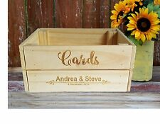 Personalised Wooden WISHING WELL CRATE card box rustic wedding table decoration