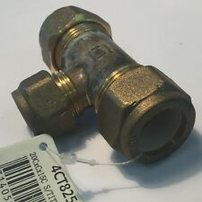 BRASS COMPRESSION REDUCING TEE 20C X 20C X 15C