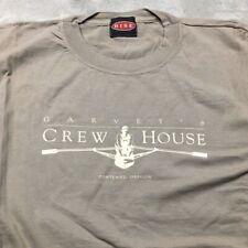 90s VTG GARVEY'S Crew House ROWING Portland OREGON T Shirt Willamette XL Oar USA