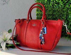 COACH pebbled leather CENTRAL crossbody satchel purse shoulder bag 37154 handbag