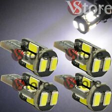 4 Lampade LED T10 10-SMD 5630 Can-Bus BIANCO Posizione Luce Targa 360° Luminosi
