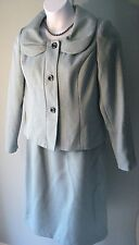 Giorgio Sant'Angelo Women's Skirt Suit S12 Blue/Grey Lined Church Office