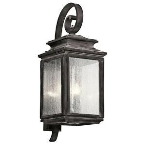 "Kichler 49504 Weathered Zinc Wiscombe Park 4-Light 30.5"" Outdoor Wall Light"