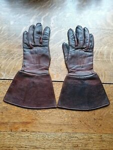 WW2 ATS FANY WAAF Leather Driving Gauntlets
