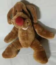 "Ganz Bros Wrinkles the Dog Hand Puppet 18"" Tall Stuffed Plush Brown"