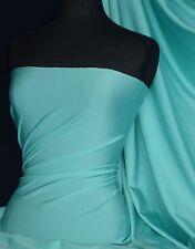 Aqua Blue 4 Way Stretch Shiny Lycra Material Q54 AQ