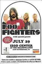 Foo Fighters Iron Maiden Concert Handbill Mini Poster 2008 Ny Area
