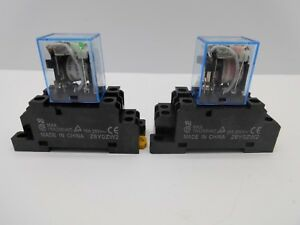 OMRON LY2NJ 10 AMP 8 PIN POWER RELAY DPDT BASE 12, 240 VOLT AC DC SILVER COIL