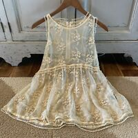 L Boho Lace Embroidered Tank Top Tunic Blouse Women's Boutique Size LARGE NWT