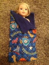 "Wellie Wisher American Girl 14"" doll boy/girl basketball sleeping bag Clothes"