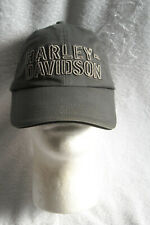 Mens Harley Davidson Baseball Hat Gray Raised Letters Adjustable Back