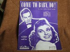 Come to Baby, Do/1945 Sheet Music/Les Brown & Doris Day Cover Photos